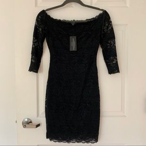 NWT Guess Black Lace Cocktail Dress Size XS